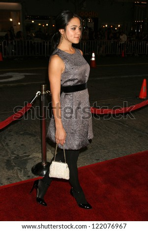 "WESTWOOD, CA - NOVEMBER 05: Camille Guaty at a Special Presentation of ""Babel"" in Mann Village November 05, 2006 in Westwood, California"