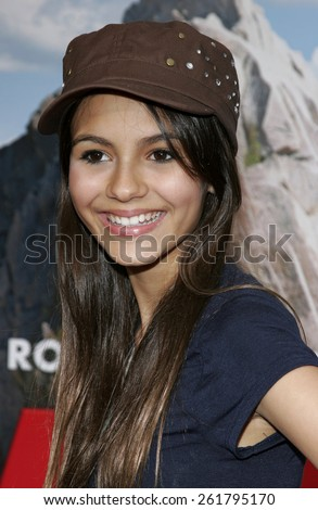 """WESTWOOD, CALIFORNIA. April 23, 2006. Victoria Justice attends the Los Angeles Premiere of """"RV"""" held at the Mann Village Theatre in Westwood, California United States. - stock photo"""