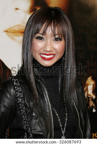"WESTWOOD, CALIFORNIA. January 4, 2007. Brenda Song attends the Los Angeles of ""Freedom Writers"" held at the Mann Village Theater in Westwood, California United States."