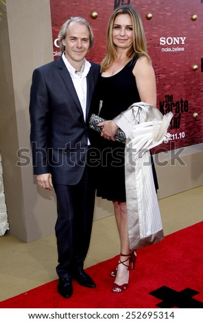 """WESTWOOD, CALIFORNIA - Monday June 7, 2010. Harald Zwart at the Los Angeles premiere of """"The Karate Kid"""" held at the Mann Village Theater, Westwood. - stock photo"""