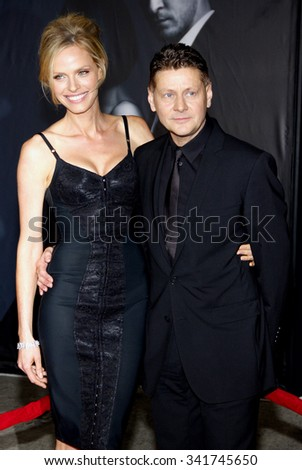 "WESTWOOD, CALIFORNIA - October 20, 2011. Rachel Roberts and Andrew Niccol at the Los Angeles premiere of ""In Time"" held at the Regency Village Theater, Los Angeles."