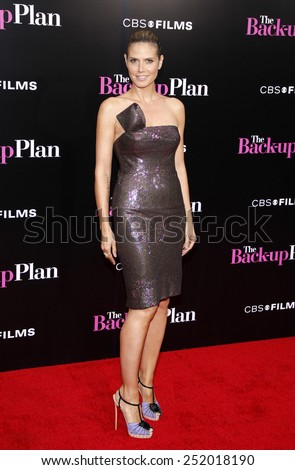 "WESTWOOD, CALIFORNIA - Wednesday April 21, 2010. Heidi Klum at the Los Angeles premiere of ""The Back-Up Plan"" held at the Westwood Village Theater, Hollywood.  - stock photo"
