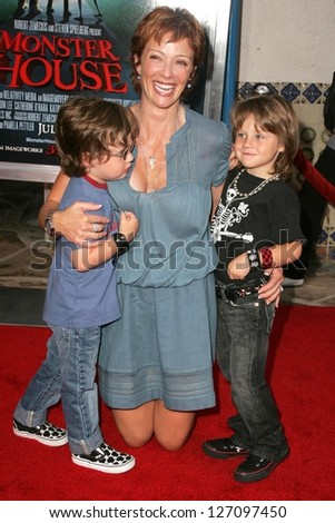 "WESTWOOD - JULY 17: Lauren Holly and family at the premiere of ""Monster House"" at Mann Village Theater July 17, 2006 in Westwood, CA."