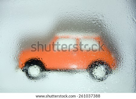wet car - stock photo