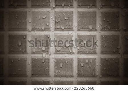 Wet Ceramic Wall - stock photo