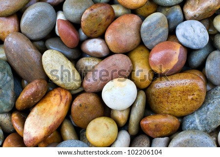 wet colored stones background - stock photo