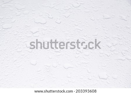 Wet Metal, detail of a metallic background wet with water, textured background - stock photo
