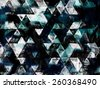wet paint triangles with sea colors, abstract background wallpaper design, geometric eye illusion, pattern future space shapes and forms textured - stock vector
