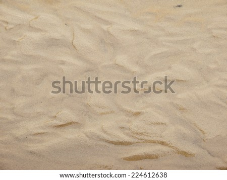 Wet sand texture on ocean shore formed by gentle waves