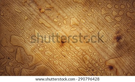 wet wooden background - stock photo