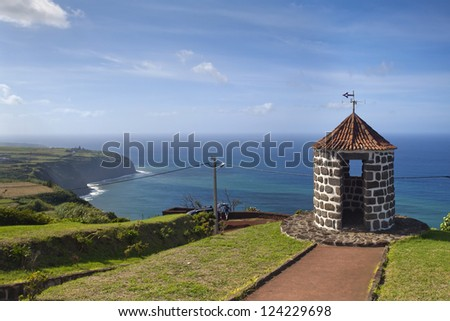 Whale Viewpoint, Island of Sao Miguel, Archipelago of the Azores, Portugal, Europe - stock photo