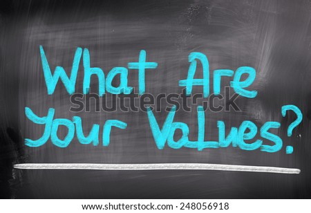 What Are Your Values Concept - stock photo