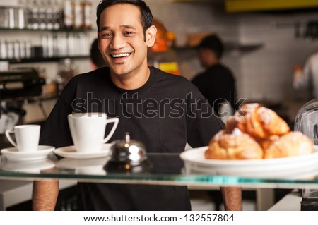 What can I serve you today? - stock photo