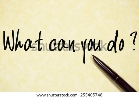 what can you do question write on paper  - stock photo