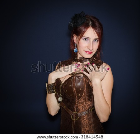 What I feel in my heart. Studio portrait of lover young woman - stock photo