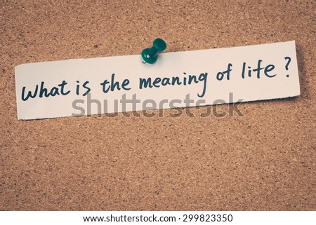 What is the meaning of life - stock photo