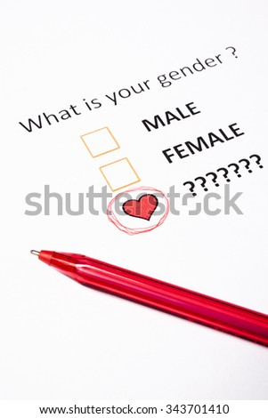 what is your gender ? - stock photo