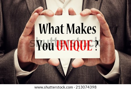 What Makes You Unique? - stock photo