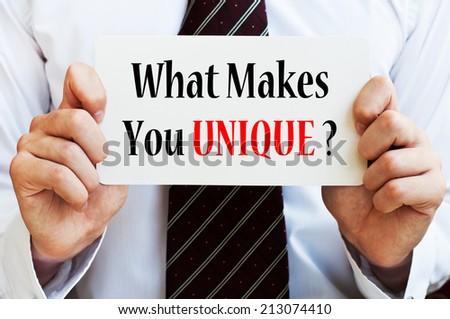 What Makes You Unique? - stock photo