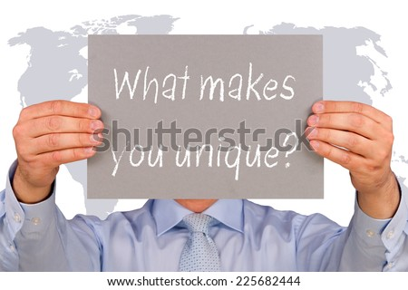 What makes you unique ? - stock photo