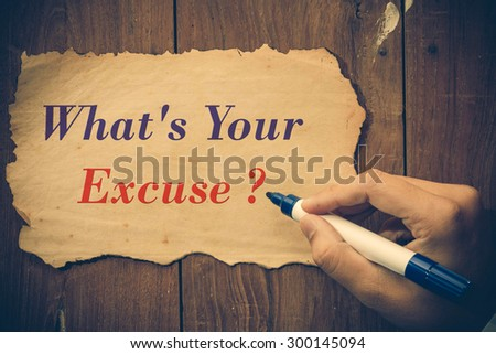 what's your excuse question write.