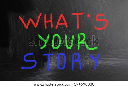 what's your story? - stock photo