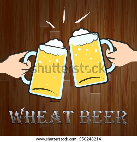 Wheat Beer Glasses Meaning Public House And Drinking