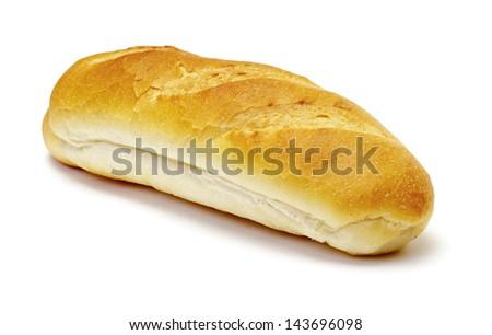 Wheat bread on white background - stock photo
