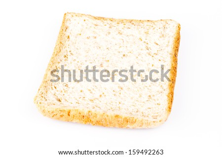 Wheat bread on white background