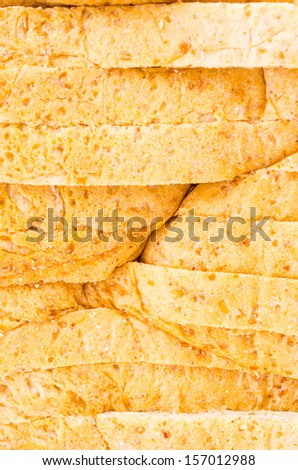 Wheat bread texture for background - stock photo