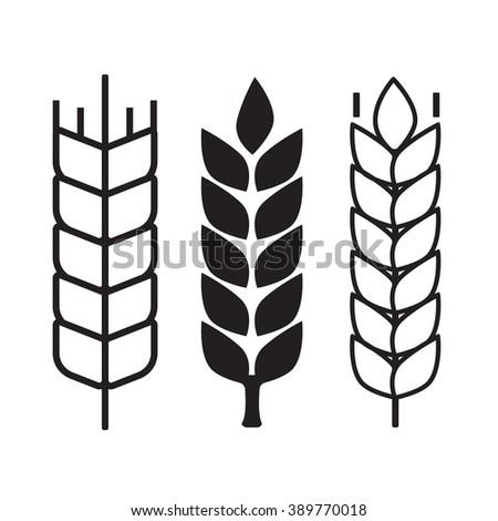 Wheat ear symbols - stock photo