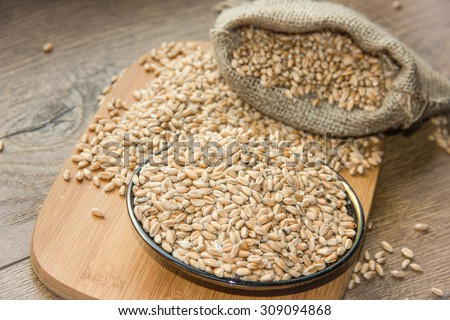 Wheat grains ,Grain of the wheat , whole wheat grains