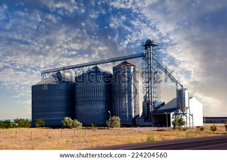 wheat Processing Facility  - stock photo