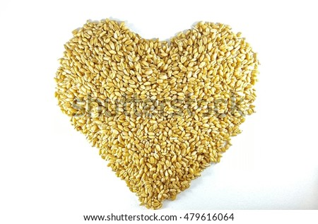Wheat seeds (Heart symbol)