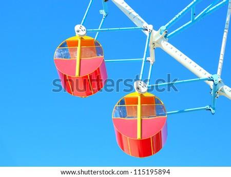 Wheel Amusement Park - stock photo