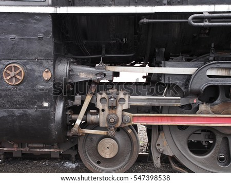 wheel and rod of steam locomotive, type C62