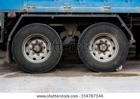wheel and tire of  truck and trailers