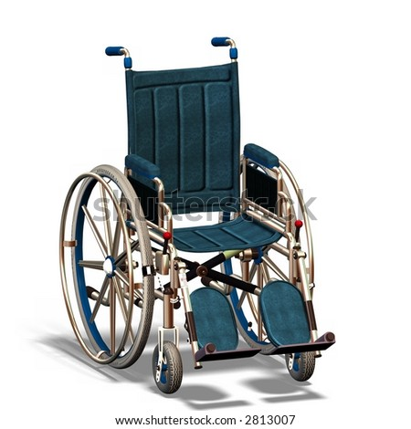 Wheel chair, view from side/front