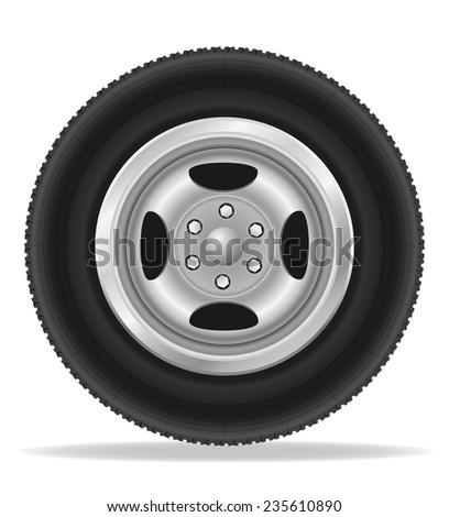wheel for car illustration isolated on white background