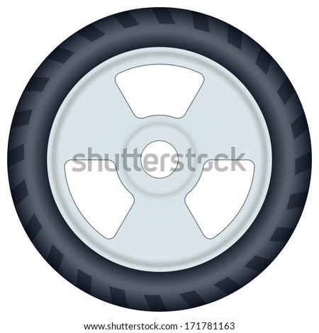 Wheel icon for various design
