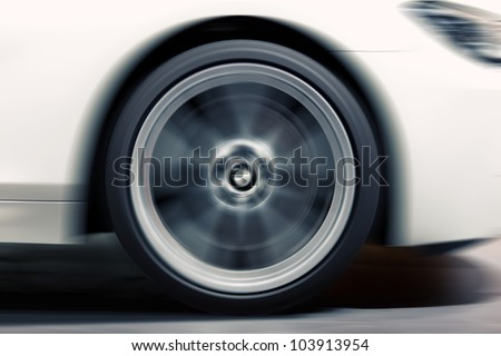 Wheel in Motion - stock photo