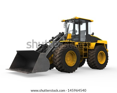 Wheel Loader Bulldozer - stock photo