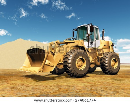 Wheel Loader Computer generated 3D illustration - stock photo