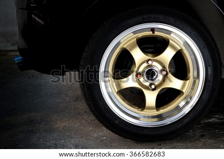 wheel of car for racing