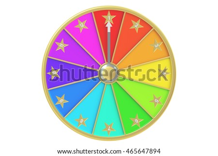 wheel of fortune, 3D rendering isolated on white background
