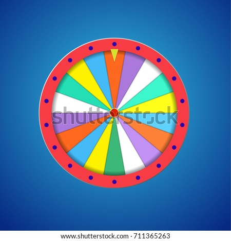 wheel fortune flat template isolated on stock illustration 711365263