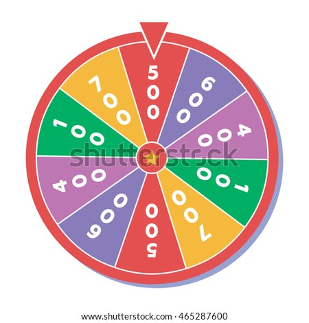Wheel of fortune. illustration in flat style