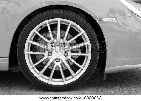 Wheel of new sports car 1