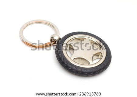 wheel on the white background - stock photo
