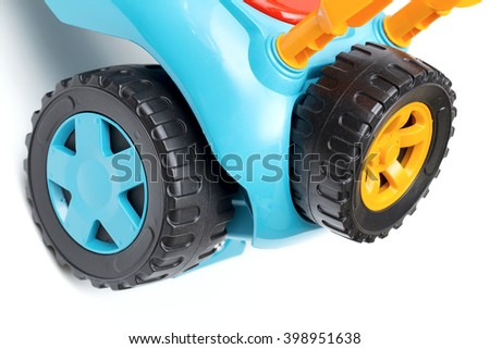 wheel on the white background - stock photo